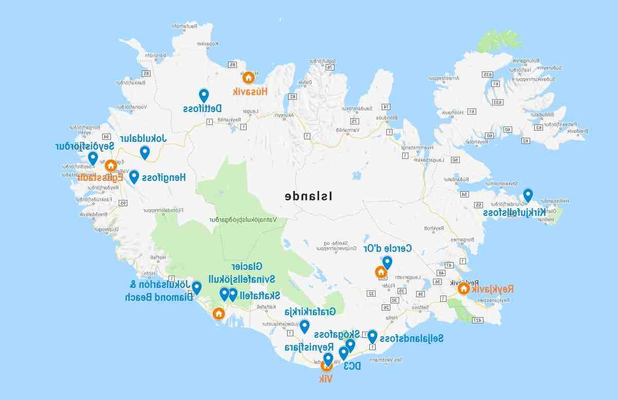 Où prendre un bateau pour l'Islande?