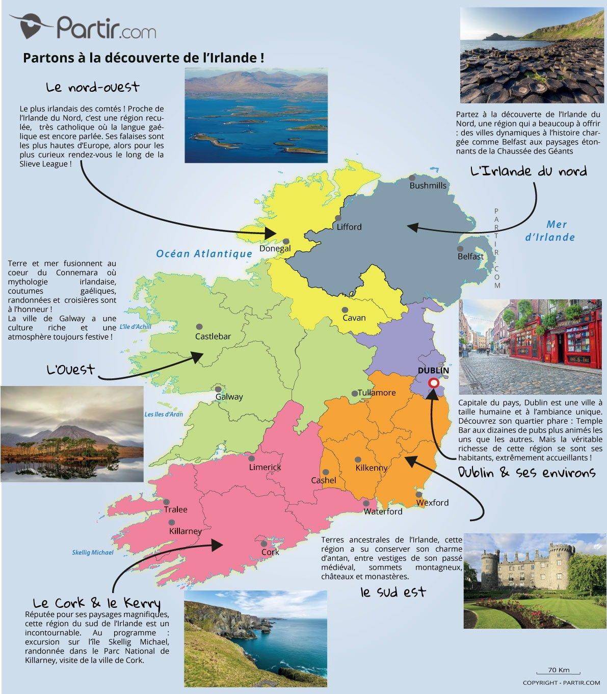 Quelle est la plus belle partie de l'Irlande ?